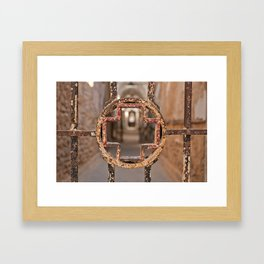 Prison Medical Ward Gate Cross Framed Art Print