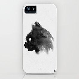 Cat Portrait (Ink Painting) iPhone Case