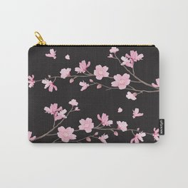 Cherry Blossom - Black Carry-All Pouch