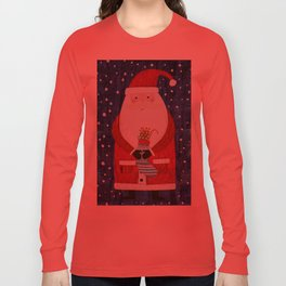 Santa with Stocking Long Sleeve T-shirt