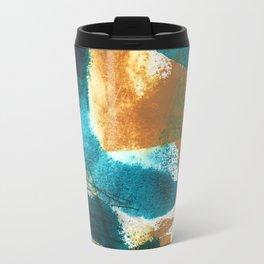 teal + mustard #103 Travel Mug