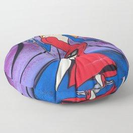 Jessica Rabbit Spray Painting Floor Pillow
