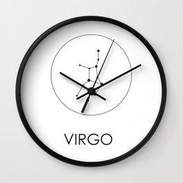 Virgo Stars Wall Clock