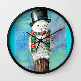 Snowman Owl Wall Clock