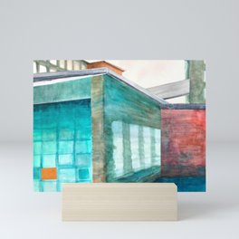 Newmarket Mills Watercolor Collage Mini Art Print