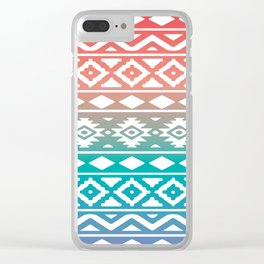 Aztec Pattern No. 10 Clear iPhone Case