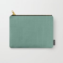Botanical Embrace ~ Soft Green Carry-All Pouch