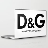 dumbledore Laptop & iPad Skins featuring Dumbledore & Grindelwald by Christina