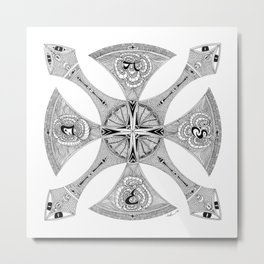 Four Truth Serpents Metal Print