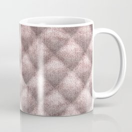 Quilted Dusty Pink Velvety Faux Toweling Design Coffee Mug