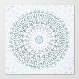 Teal Aqua Mandala Canvas Print