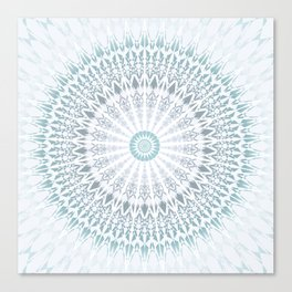 Teal Aqua Mandala Canvas Print