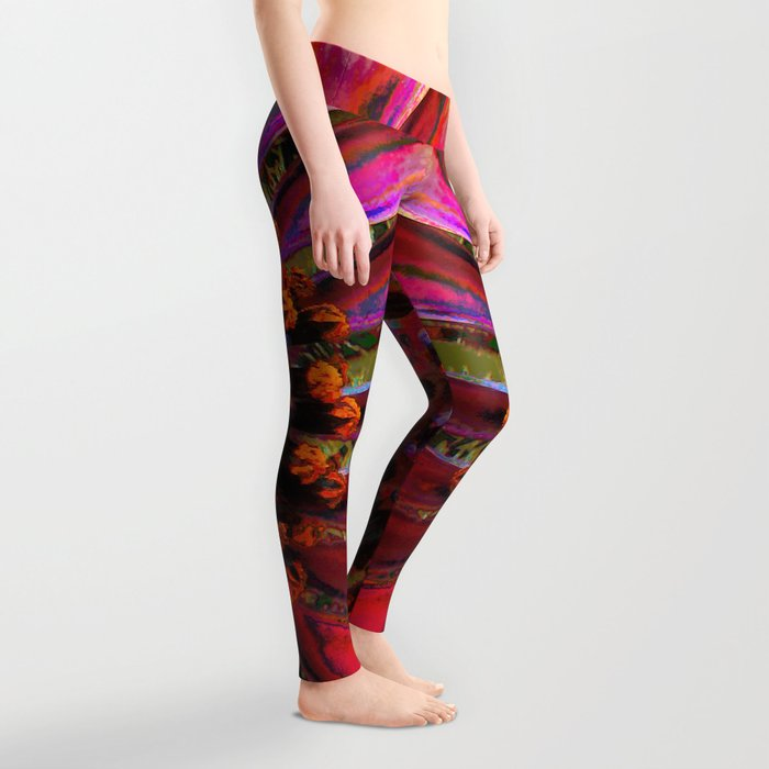 Extreme African Daisy Leggings