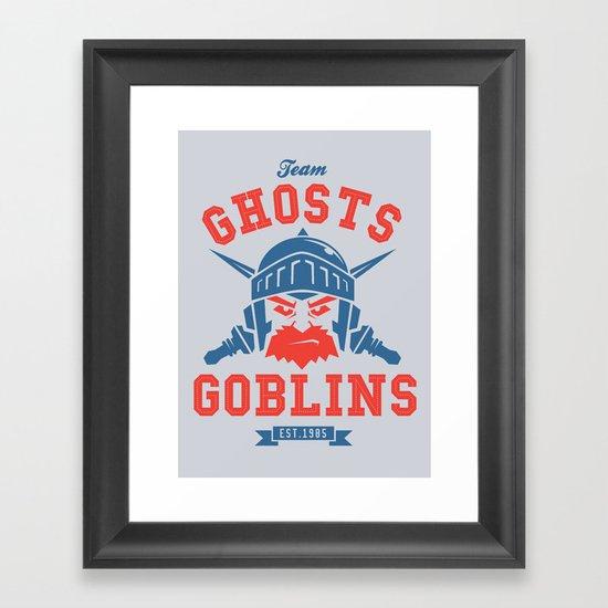Team Ghosts & Goblins Framed Art Print