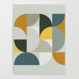 Mid Century Geometric 13 Poster