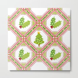 Polka Dot Christmas Metal Print