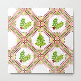 Polka Dot Christmas Metal Print