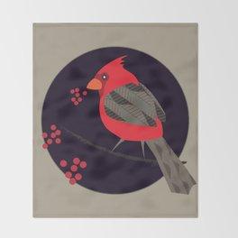 Cardinal Song Throw Blanket