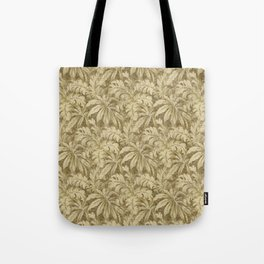 Vintage Taupe Leaves - Antique Leaf Design Tote Bag