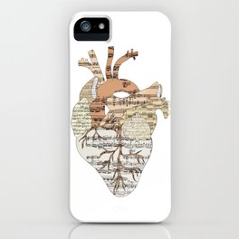 Sound Of My Heart (on white) iPhone Case