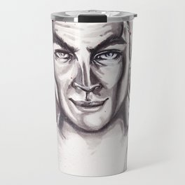 James T. Kirk Watercolor painting Travel Mug