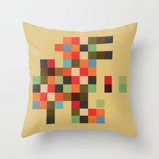 Mid Century Textile Series 1_3 Throw Pillow