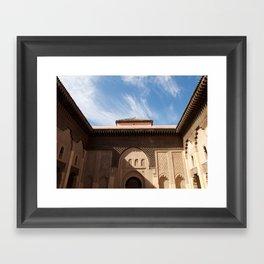 Marrakech courtyard Framed Art Print