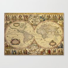 The puzzled world Canvas Print