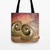 shells Tote Bags featuring Shells  by KunstFabrik_StaticMovement Manu Jobst