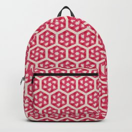 Pink Star Pattern Backpack
