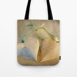 Textured Hearts Tote Bag