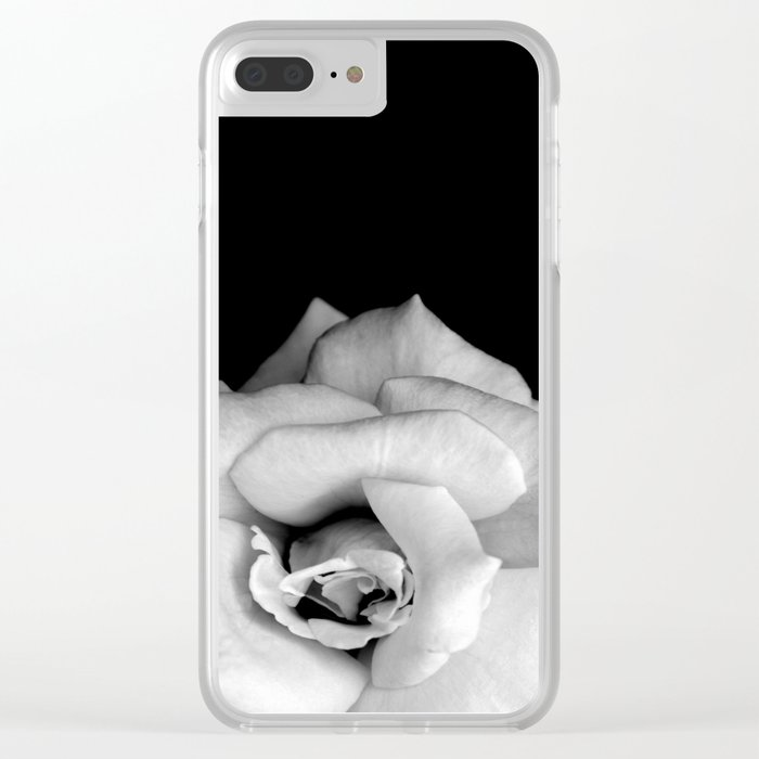 Rose Monochrome Clear iPhone Case