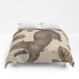 The Squirrel and Chestnuts Comforters