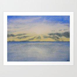 Sky and Ocean III Art Print