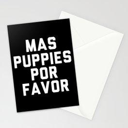 Mas puppies por favor Stationery Cards
