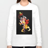 actor Long Sleeve T-shirts featuring Cracked Actor (black) by Ashleigh Hungerford