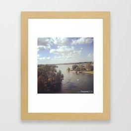Boat Chase Framed Art Print