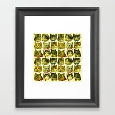 Many Cats Framed Art Print
