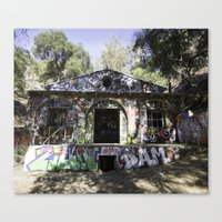 grafitti Canvas Prints featuring Grafitti  by SEMphotography