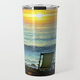 Modern Cambria CA Sunset Travel Mug