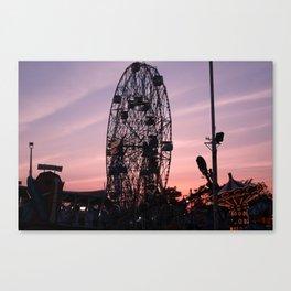 Coney  Island  Wonder Wheel  Canvas Print