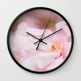 Magnolia In Blush Wall Clock