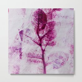 Pretty Plum Leaves  Metal Print