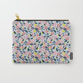 Geometric Birds and Flowers Carry-All Pouch