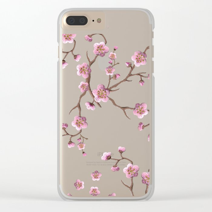 SAKURA LOVE - GREEN Clear iPhone Case