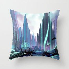 Transia City Throw Pillow
