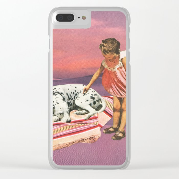 Napping Puppy Clear iPhone Case