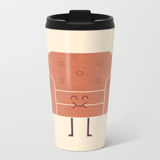 Couch Snack Metal Travel Mug