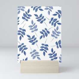 Blue Leaves Mini Art Print