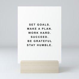 Set goals make a plan Mini Art Print